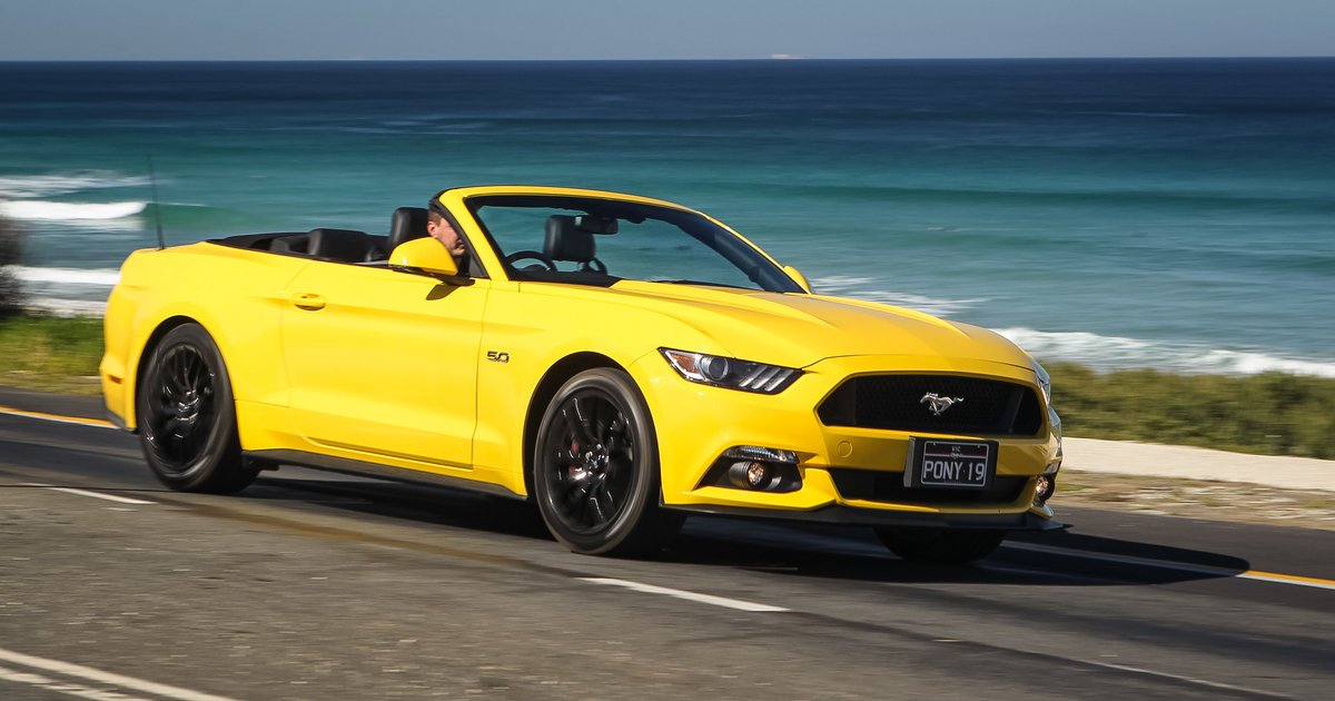 yellow ford mustang convertible for sale 2016 ford mustang gt convertible weekender caradvice. Black Bedroom Furniture Sets. Home Design Ideas