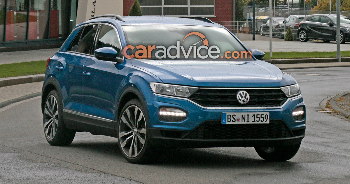 volkswagen t roc r spied at the nurburgring. Black Bedroom Furniture Sets. Home Design Ideas