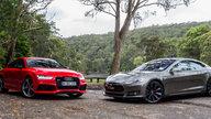 Audi RS7 Sportback v Tesla Model S P85D : Comparison Review
