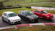 Focus RS v Golf R v WRX STI Comparison:: Track Test