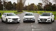 Medium wagon comparison: Hyundai i40 v Mazda 6 v Volkswagen Passat