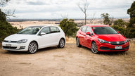 Holden Astra RS-V v Volkswagen Golf 110TSI comparison