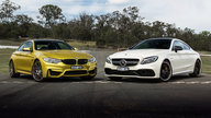 BMW M4 Competition v Mercedes-AMG C63 S Coupe track comparison