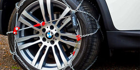 How to fit snow chains
