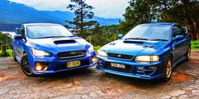 Subaru WRX STI comparison video: 2015 sedan v 1999 two-door