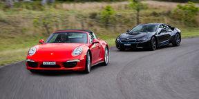 Porsche 911 Targa and BMW i8 review : Evolution meets revolution