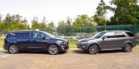 SUV v MPV: Kia Carnival v Ford Territory