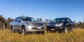 Mitsubishi Triton Exceed v Isuzu D-Max LS-Terrain Comparison Review