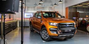 2015 Ford Ranger Wildtrack digital instrument cluster