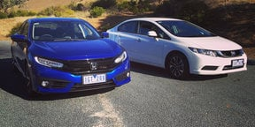 2016 Honda Civic - what has changed?:: Side by side with 2015 Honda Civic