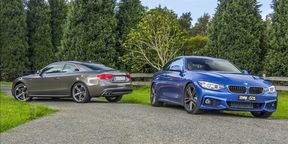 BMW 428i v Audi A5 2.0T Quattro Review: $80k Coupe Twin Test