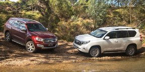 2016 Ford Everest Titanium v Toyota Prado VX off road comparison review
