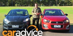 Holden Barina RS v Ford Fiesta Sport Video Review