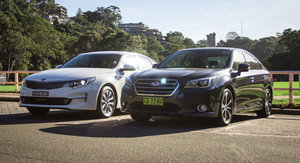 Kia Optima 2.4 Si v Subaru Liberty 2.5i Premium Comparison