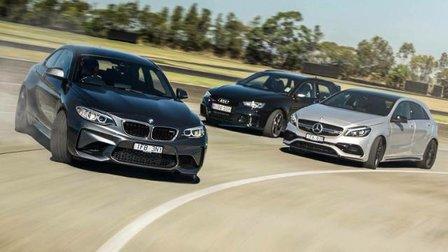 BMW M2 v Audi RS3 v Mercedes-AMG A45: Track battle