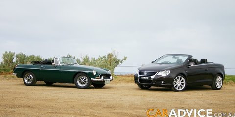 Retro Road Test Volkswagen Eos & MG B