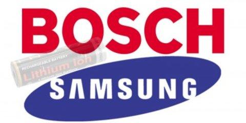 Bosch + Samsung = lithium ion batteries