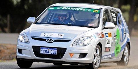 Hyundai i30 at Targa Tasmania