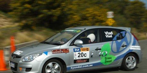 Hyundai i30 diesel Targa Tasmania 2010 in-car footage