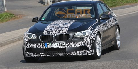 2011 BMW M5 testing at Nurburgring spy video