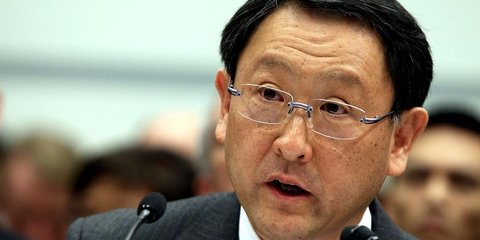 Akio Toyoda apologises to shareholders