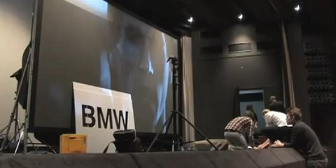 Video: BMW flash projection cinema advertisement