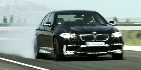 Video: BMW M5 driven on test track in France