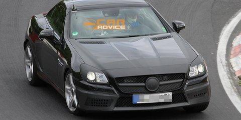 2012 Mercedes-Benz SLK 55 AMG spy shots almost reveal all