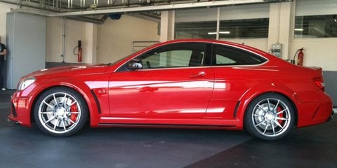 2012 Mercedes-Benz C 63 AMG Coupe Black spotted in garage