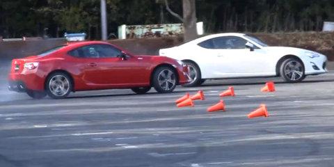 Toyota 86 drift video & Subaru BRZ commercial