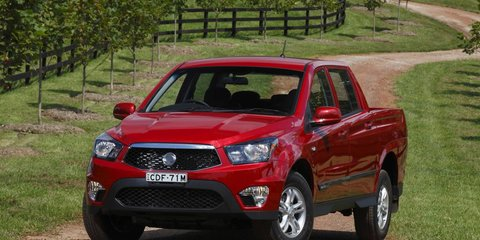 2012 SsangYong Actyon Sports: fuel-efficient dual-cab ute launched