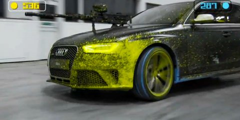 Audi RS4 Avant paintball war