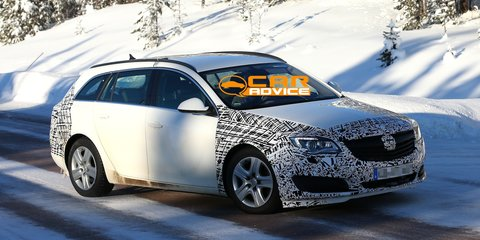 Opel Insignia wagon facelift spied