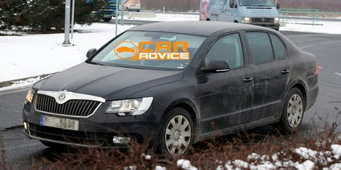 2013 Skoda Superb facelift spied
