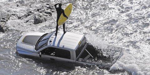 Ram pick-up truck lost at sea