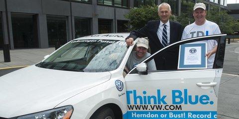 Volkswagen Passat TDI sets Guinness World Record