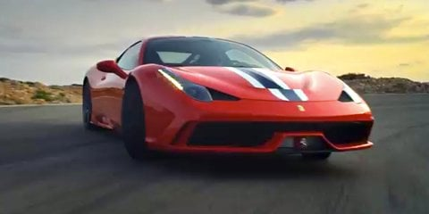 Ferrari 458 Speciale let loose on track: video