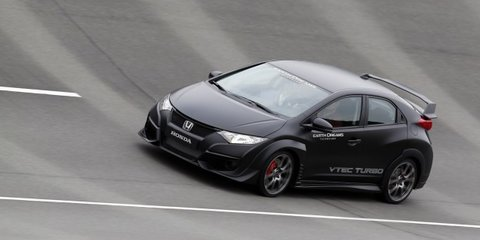 2015 honda civic type r review prototype drive caradvice. Black Bedroom Furniture Sets. Home Design Ideas