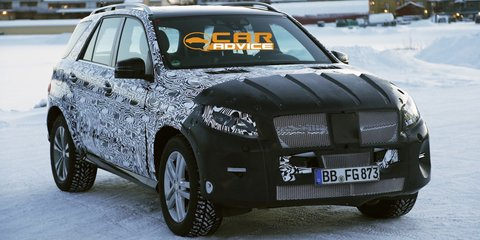 Mercedes-Benz ML-Class: facelifted large SUV spied