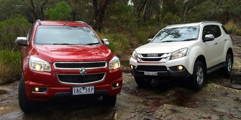 Holden Colorado 7 v Isuzu MU-X: Comparison review
