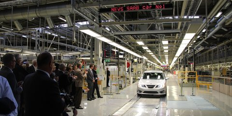 Saab production halted again by cash-strapped owner NEVS