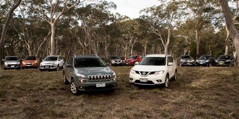 Medium SUV Comparison : Jeep Cherokee v Mazda CX-5 v Toyota RAV4 v Nissan X-Trail v Ford Kuga v Subaru Forester v Hyundai ix35 v Honda CR-V v Mitsubishi Outlander v Kia Sportage