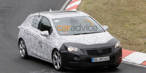 2015 Opel Astra interior spied at Nurburgring