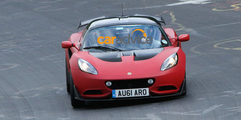 Lotus Elise S Cup R road car spied