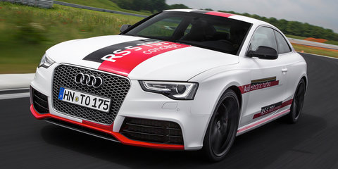 Audi RS5 TDI Concept: Track lapping an electric-turbo sports coupe