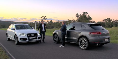 Porsche Macan S Diesel v Audi SQ5 TDI drag race: video