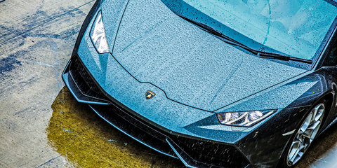Lamborghini Huracan Wet Launch - Fuji Speedway Japan