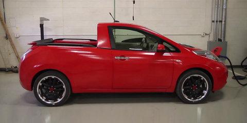 Nissan Leaf Sparky ute engineered with bits of Navara, Titan