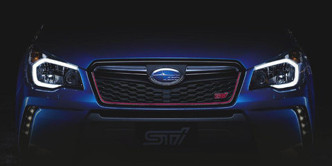 Teasers of STI-modified Subaru Forester model leaked online