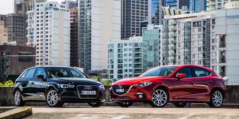 Audi A3 COD v Mazda 3 XD Astina : Comparison review